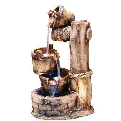 Tiering Barrel Fountain with LED Light