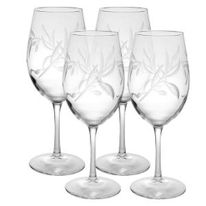 Click here to buy Rolf Glass Olive Branch 18 oz. Clear All Purpose Wine Glass (Set of 4) by Rolf Glass.