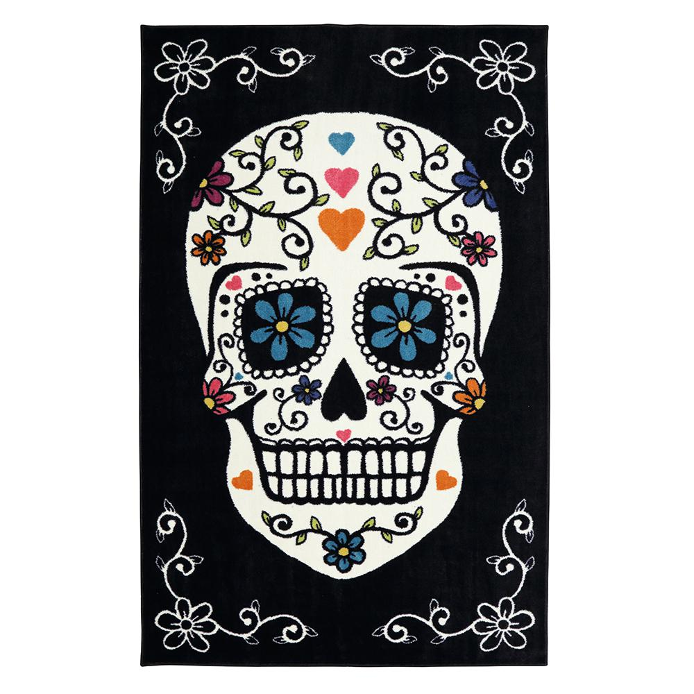 Mohawk Home Sugar Skull Rainbow 8 Ft X 10 Area Rug