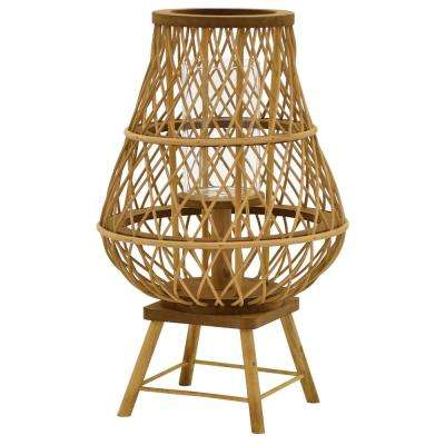 18 in. Decorative Wicker Lantern