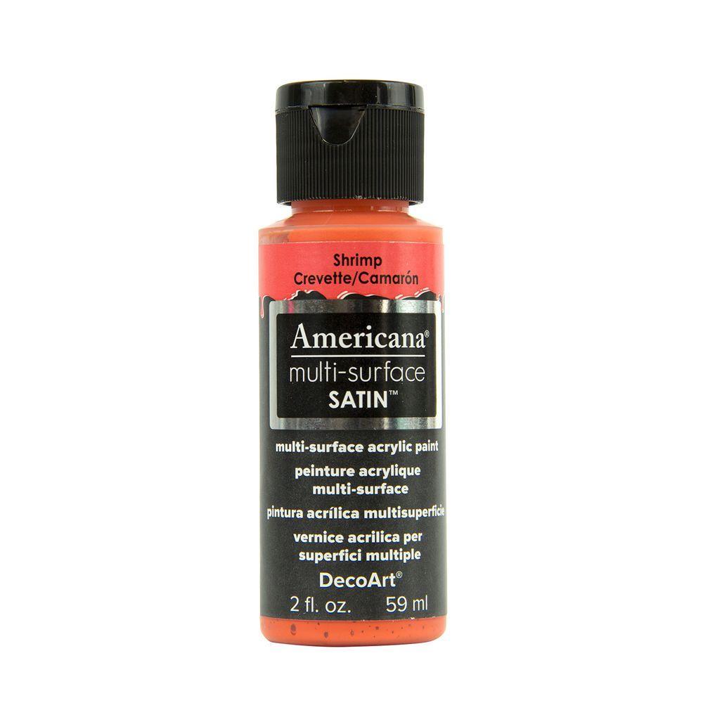 Americana 2 oz. Shrimp Satin Multi-Surface Acrylic Paint