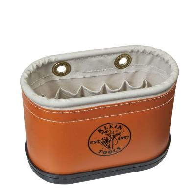 Hard-Body Bucket, 14 Pocket Oval Bucket with Kickstand