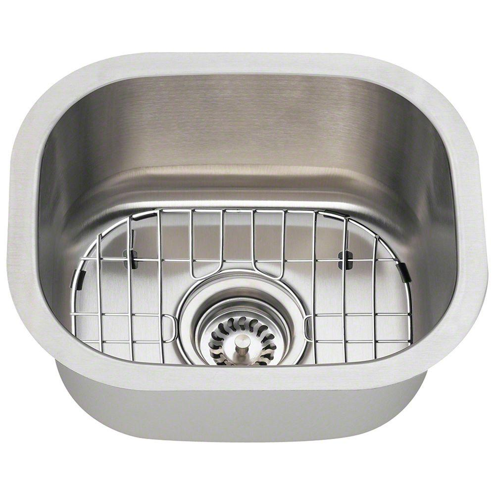 Polaris Sinks All In One Undermount Stainless Steel 15 In