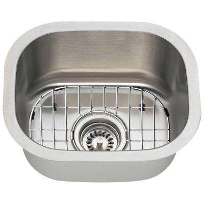 All-in-One Undermount Stainless Steel 15 in. Single Bowl Bar Sink