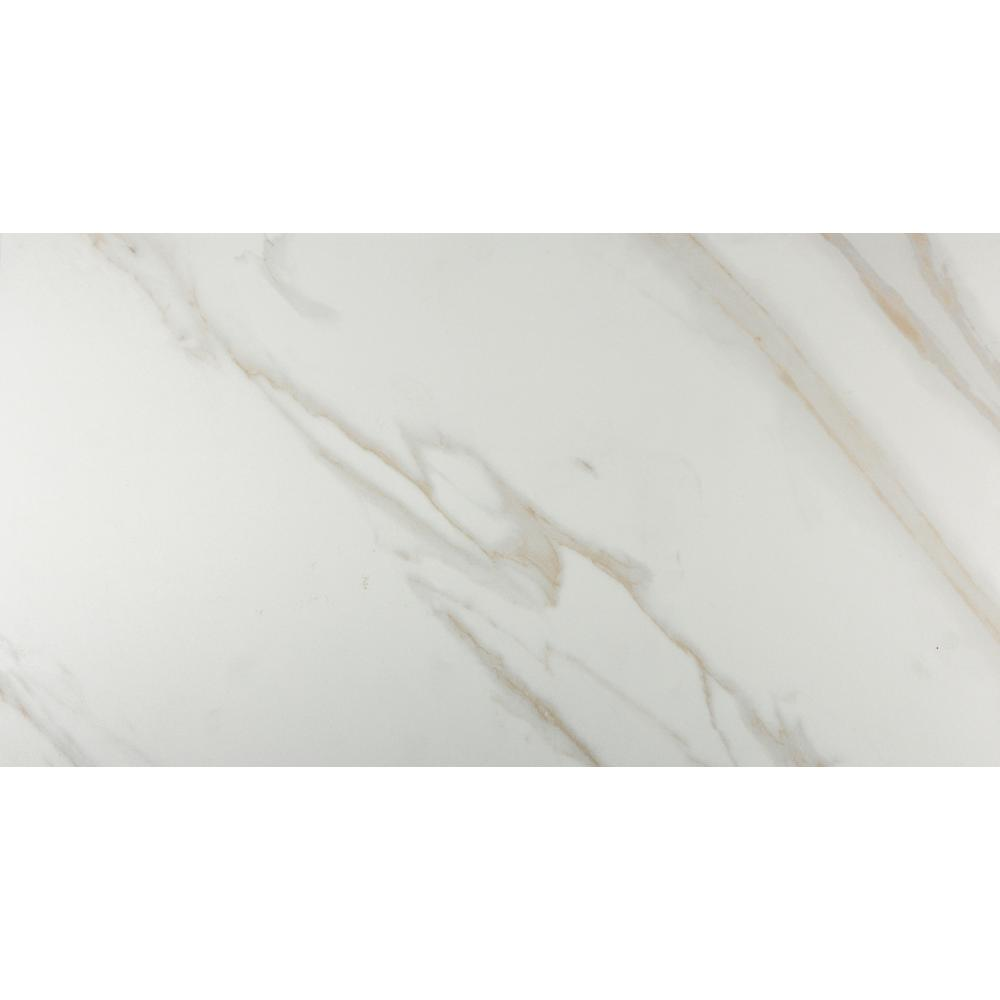Msi Calacatta 12 In X 24 In Glazed Porcelain Floor And Wall Tile