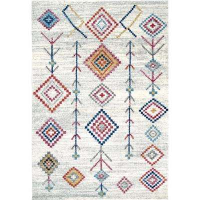 Mariam Southwestern Bohemian Totem Beige 8 ft. x 10 ft. Area Rug
