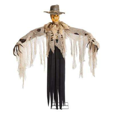 6 ft. Animated LED Flaming Scarecrow
