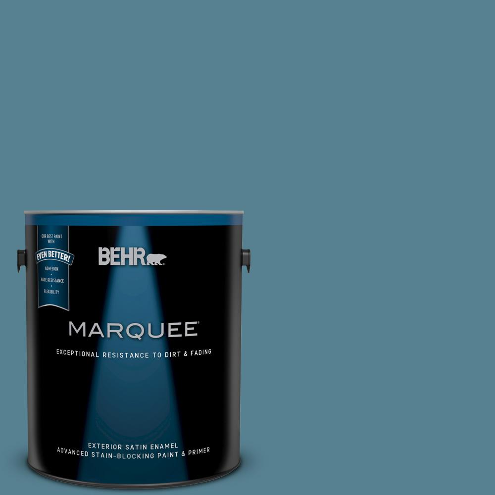 BEHR MARQUEE 1-gal. #S470-5 Blueprint Satin Enamel ...