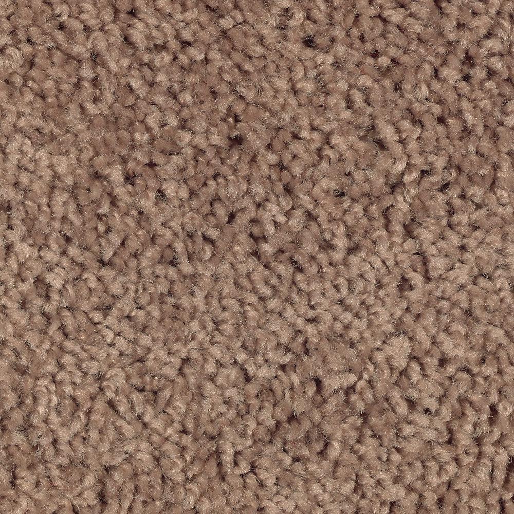 Carpet Sample - Bel Ridge - Color Milk Chocolate Texture 8 in. x 8 in.