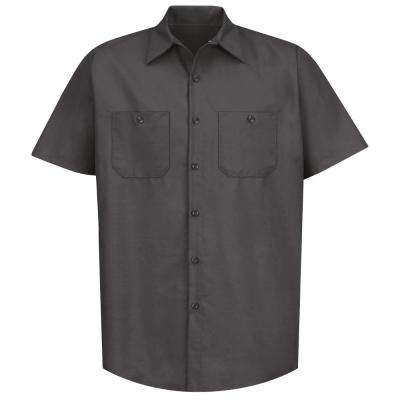Men's Size S Charcoal Industrial Work Shirt
