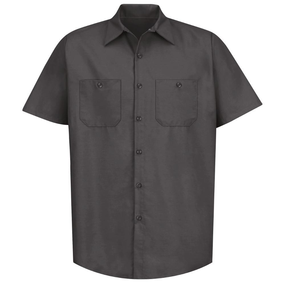 Men's Size XL (Tall) Charcoal Industrial Work Shirt