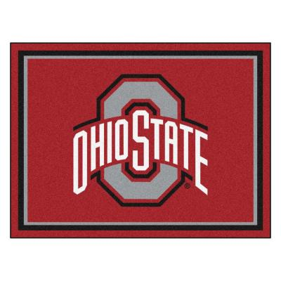 NCAA Ohio State University Red 8 ft. x 10 ft. Indoor Area Rug