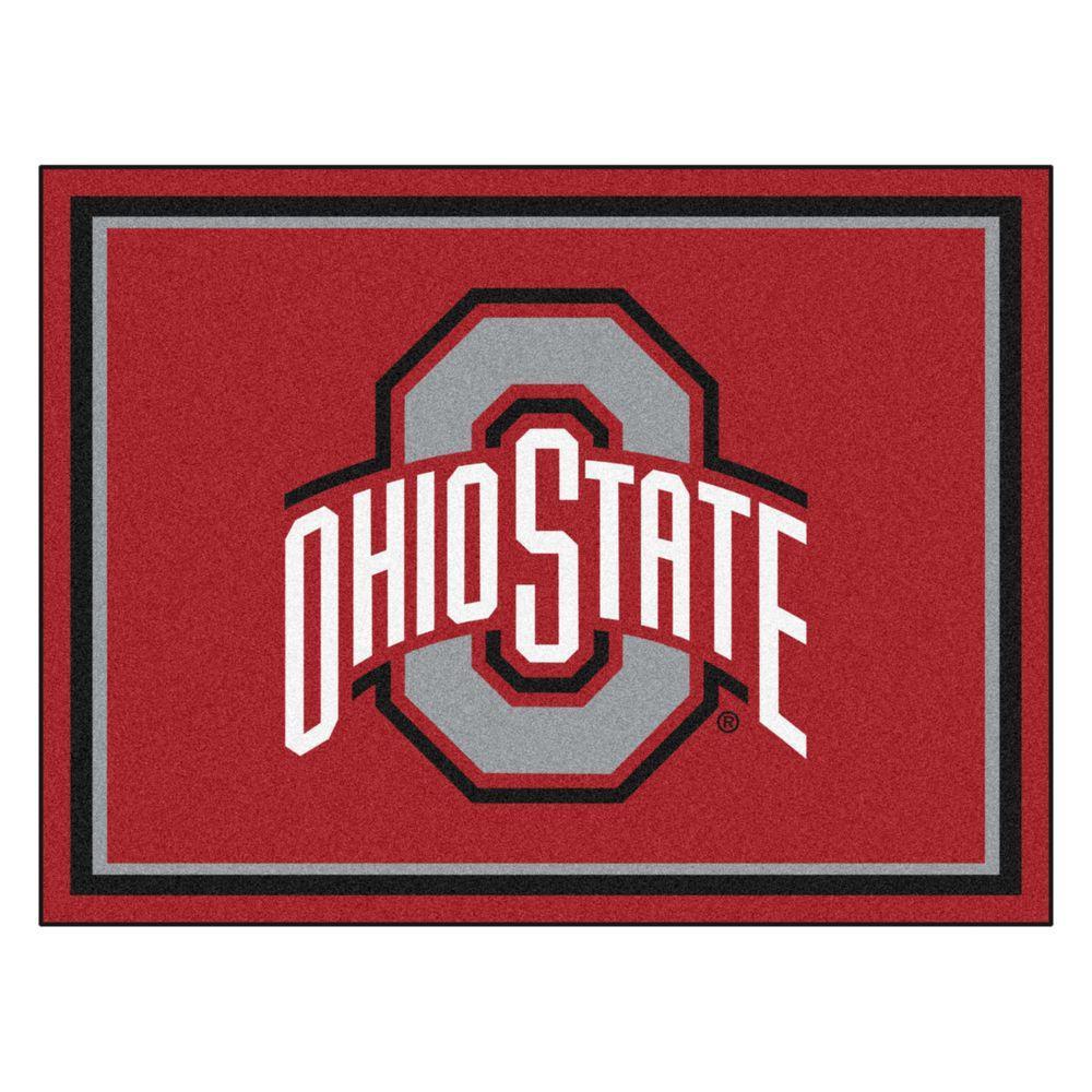 NCAA Ohio State University Red 8 ft. x 10 ft. Indoor Area Rug