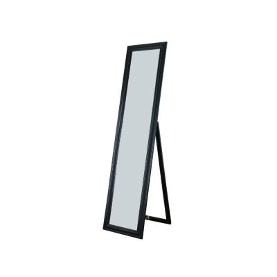 Elisabetta Black Full Length Standing Mirror with Decorative Design