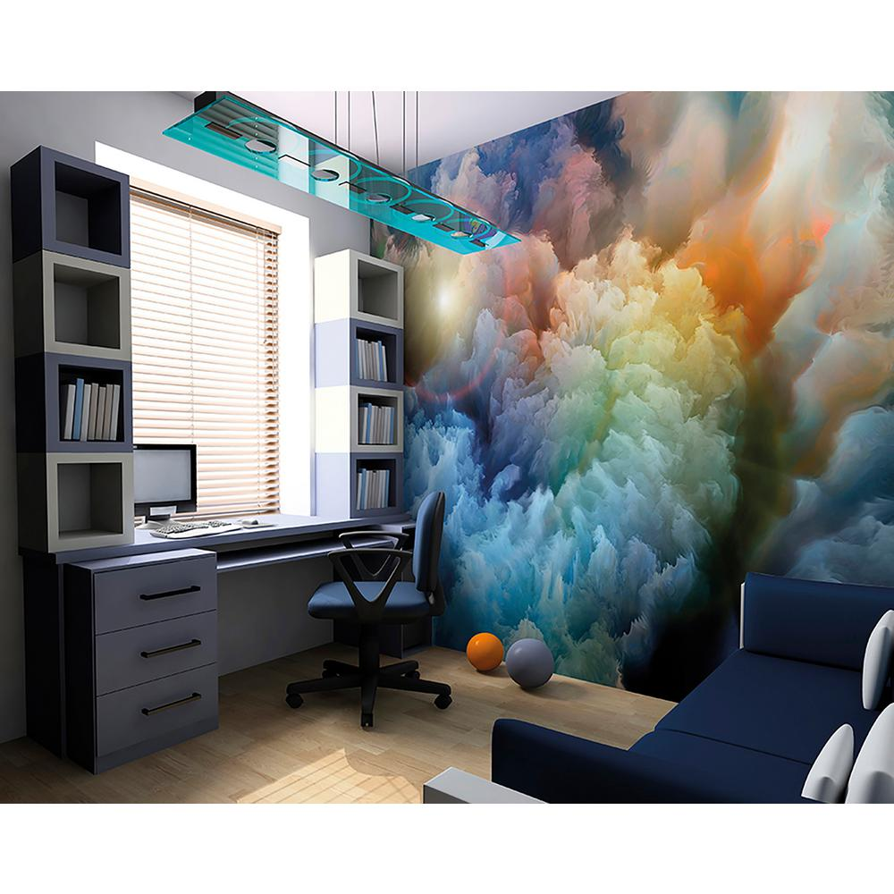 Brewster Moody Clouds Wall Mural WALS0244 The Home Depot