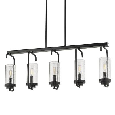 Holden 5-Light Black Linear Pendant