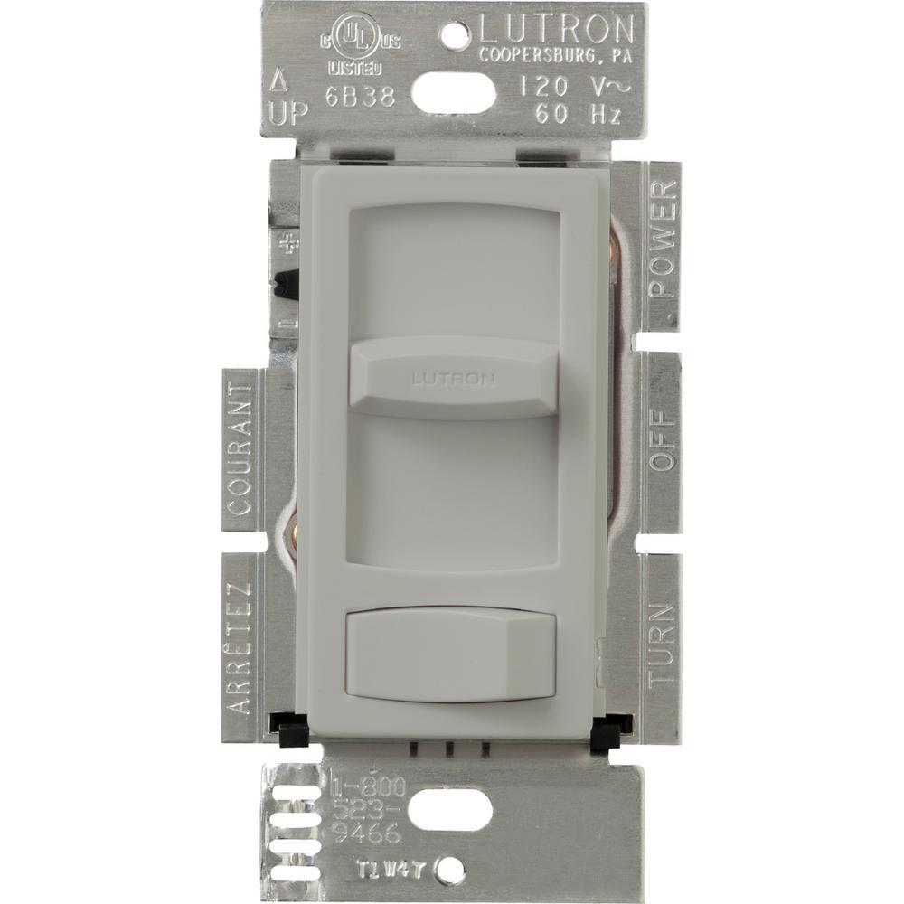 Skylark Contour 300-Watt Single-Pole/3-Way Preset Electronic Low-Voltage Dimmer, Gray