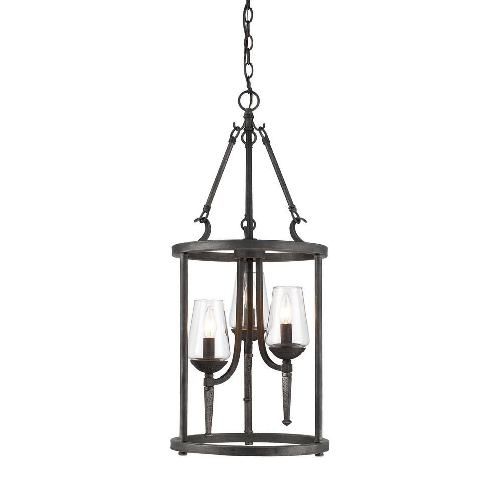 Marcellis 3-Light Dark Natural Iron Pendant