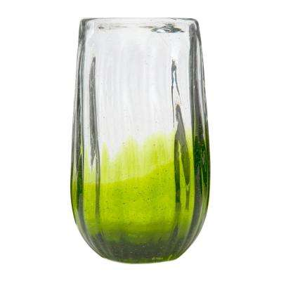 Rosa 14 oz. 6-Piece Lime Glass Hiball Drinkware Set