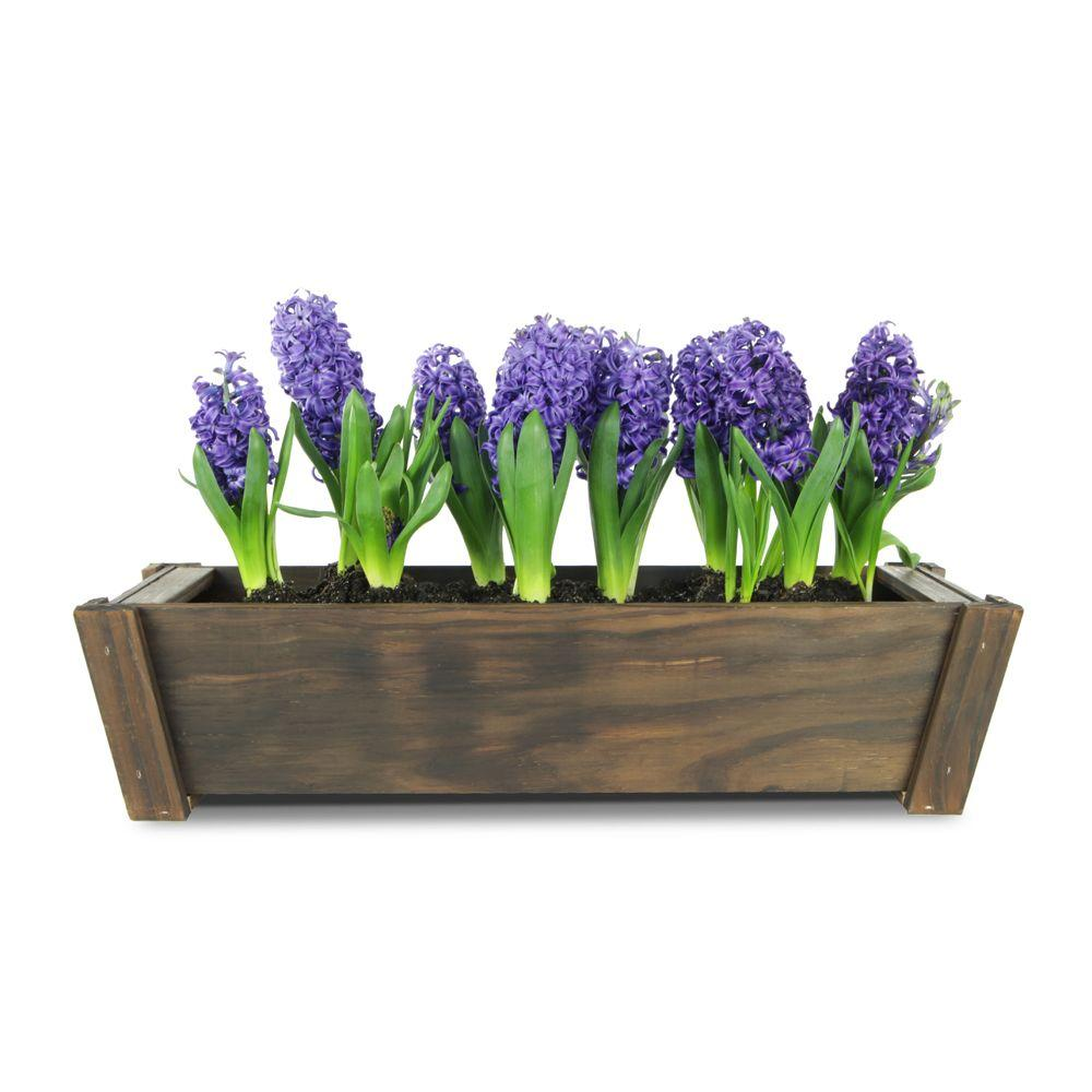 24 in. x 7 in. Dark Flame Tapered Window Box