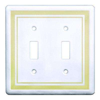 2-Gang 2 Toggle Wall Plate, Beige