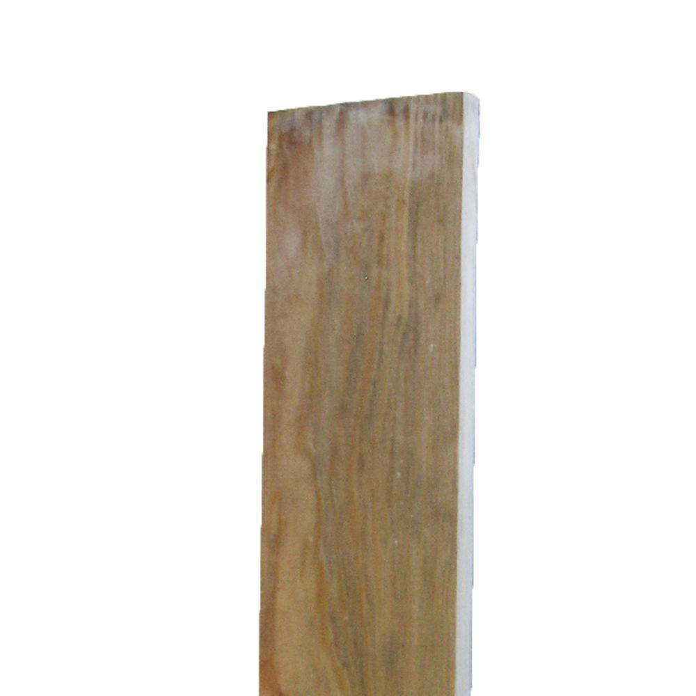 WeatherShield 2 in. x 4 in. x 12 ft. #1 Redwood-Tone Ground ...