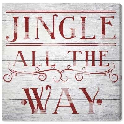"""Jingle All The Way"" by Oliver Gal Canvas Wall Art"