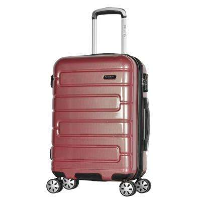 Nema 22 in. Rose Under the Seat Carry-On PC Hardcase Spinner with TSA Lock