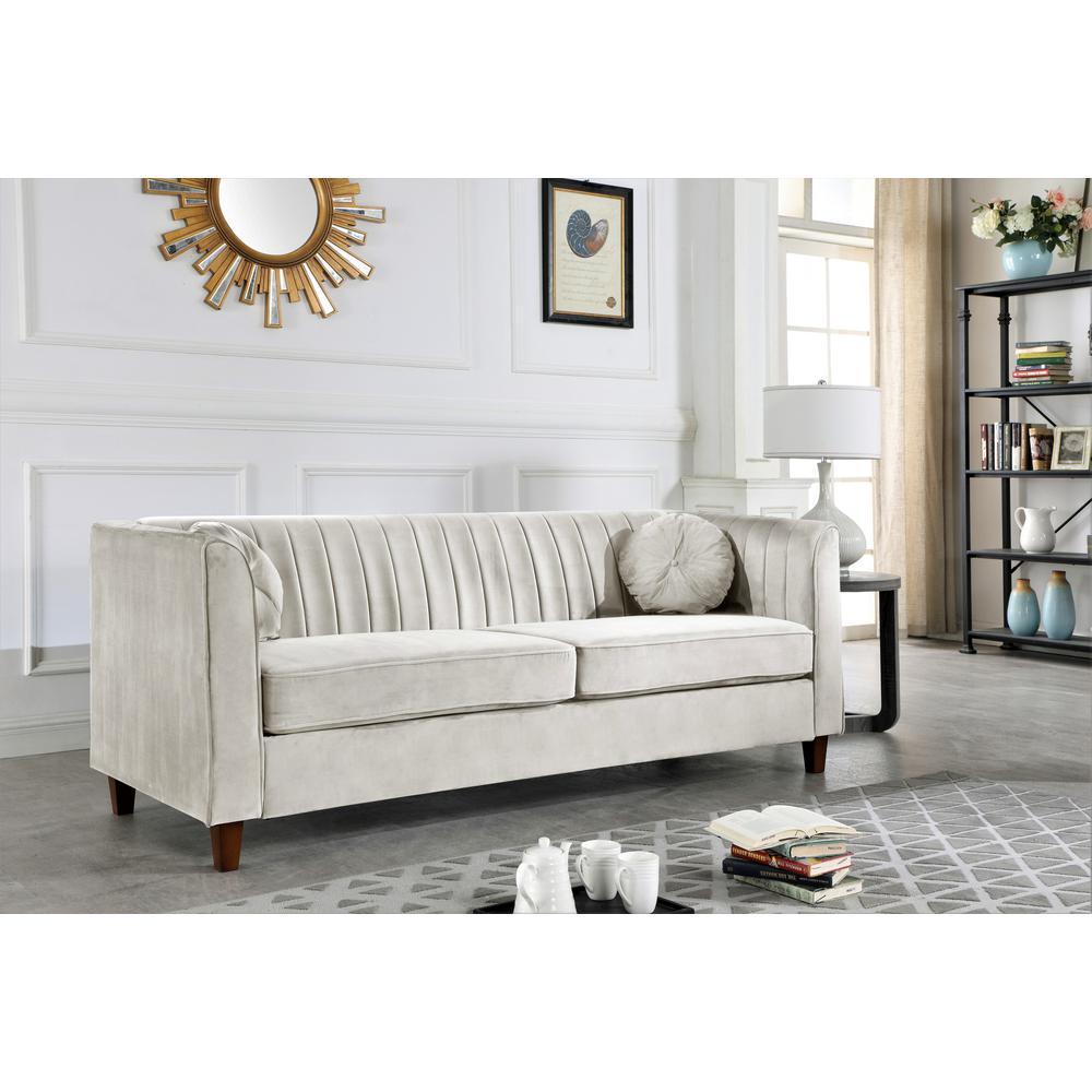 Super Lowery Velvet Kitts Classic Chesterfield Sofa Beige Short Links Chair Design For Home Short Linksinfo
