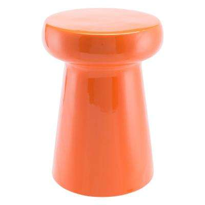 Orange Stone Outdoor Side Table