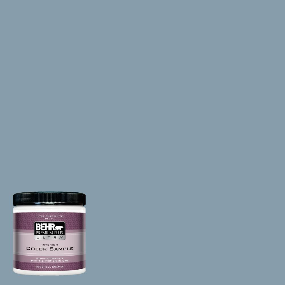 Icc 65 Relaxing Blue Eggshell Enamel Interior Paint And Primer In One Sample