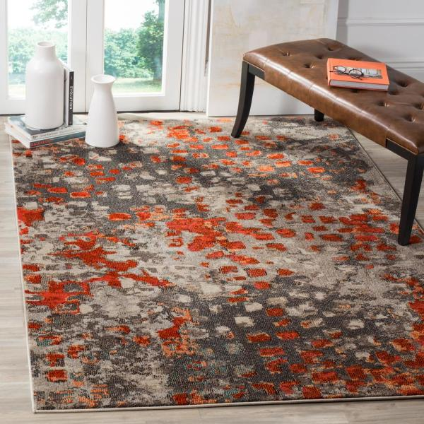 Safavieh Monaco Gray Orange 5 Ft X 8