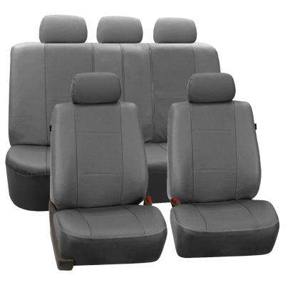 Deluxe Leatherette 47 in. x 23 in. x 1 in. Full Set Seat Covers