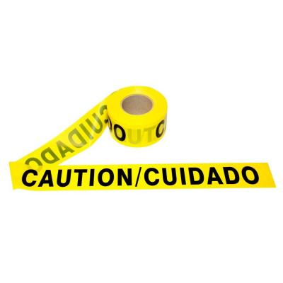 3 in. x 1000 ft. Bilingual Yellow Caution Barricade Tape