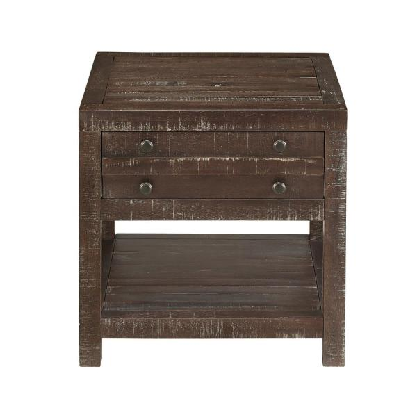 Townsend Java Solid Wood 1-Drawer End Table