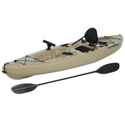 Muskie Angler Kayak with Padded Back and Paddle