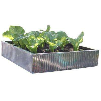 35 in. x 35 in. x 7.8 in. Galvanized Steel Raised Bed