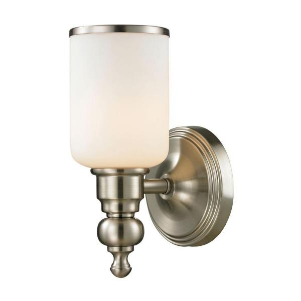 Leadenhall 1-Light Brushed Nickel Bath Light