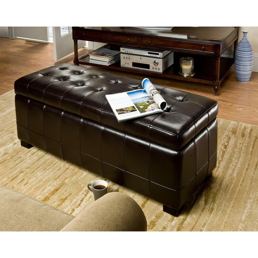 Venetian Worldwide Ellis Walnut Storage Bench Vene Cm Bn6302 The Home Depot
