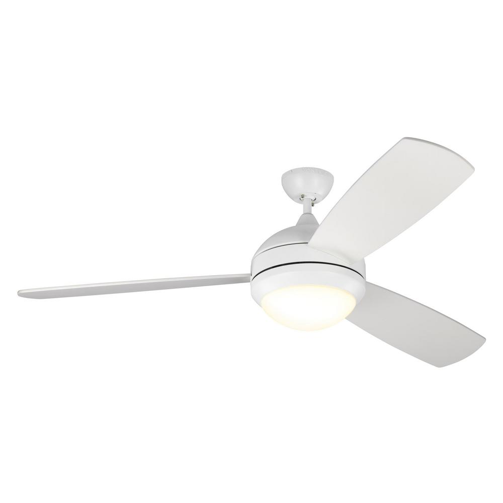 Monte Carlo Discus Trio Max 58 in. LED Indoor/Outdoor Matte White Ceiling Fan with Light Kit was $413.0 now $269.97 (35.0% off)