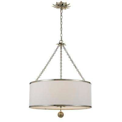 Broche 6-Light Antique Silver Chandelier