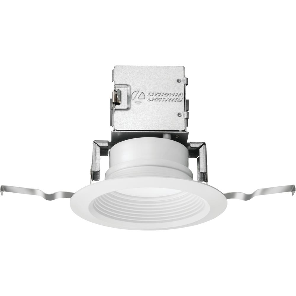 Lithonia Lighting Oneup 4 In White Integrated Led Recessed Kit