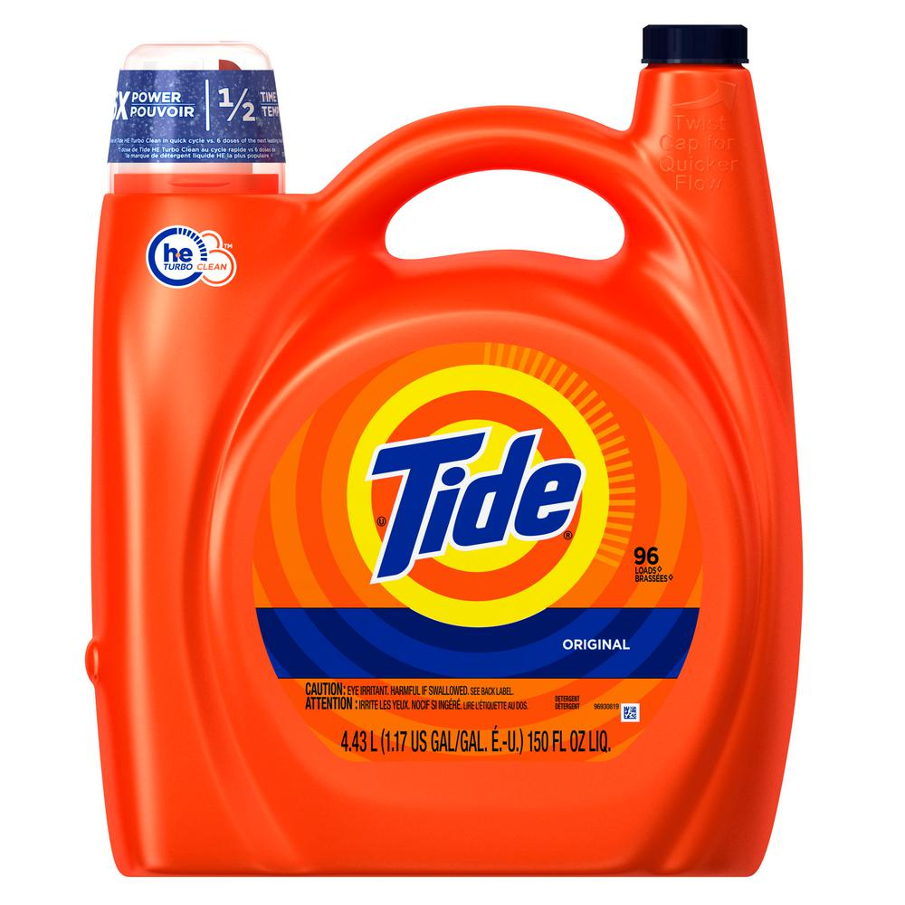 Tide 150 oz. Original Scent HE Liquid Laundry Detergent (96-Loads)-003700023068 - The Home Depot
