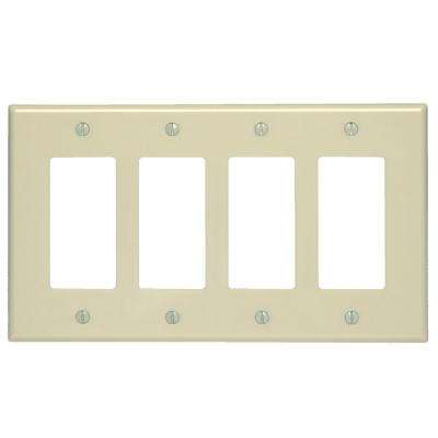 4-Gang Decora Midway Wall Plate, Ivory