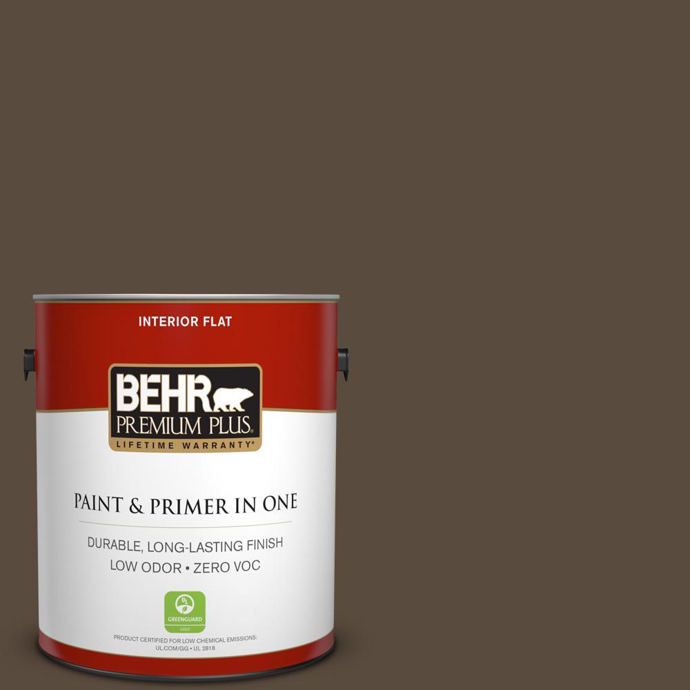 1 gal. #HDC-FL15-05 Warm Pumpernickel Zero VOC Flat Interior Paint