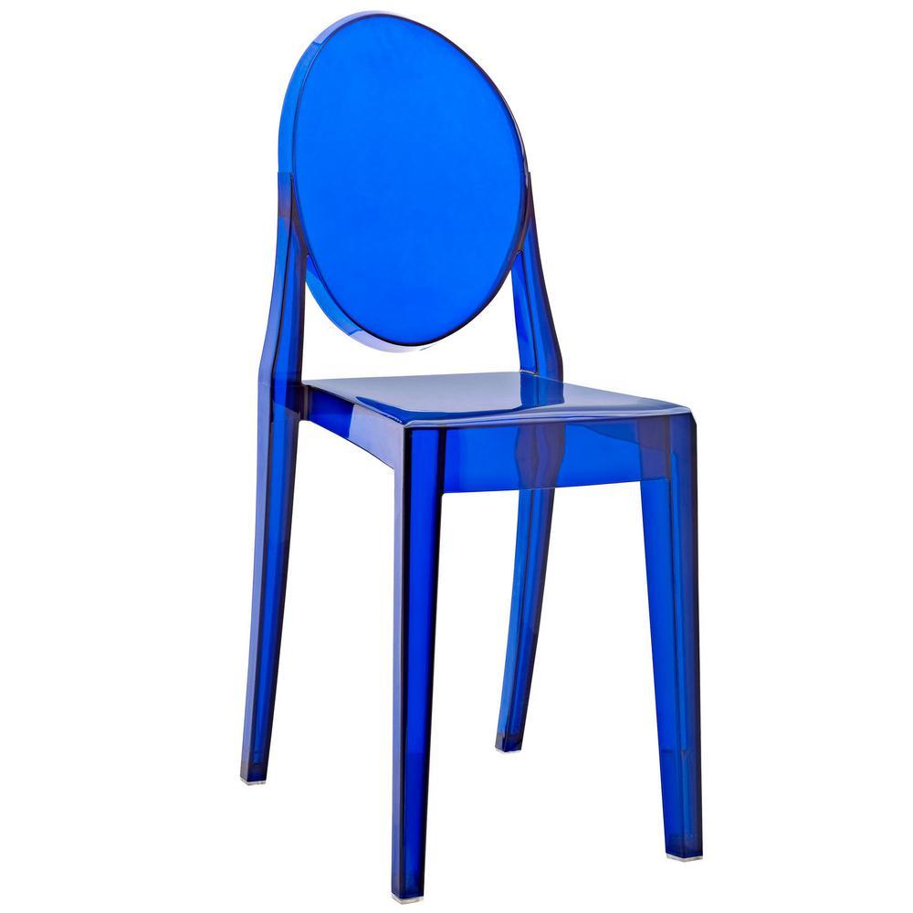 casper chair. modway casper blue dining side chair