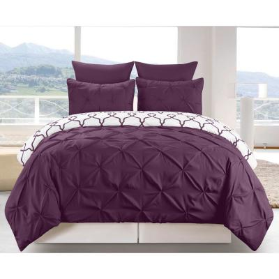 Esy Reversible 3-Piece Duvet Queen Set in Plum
