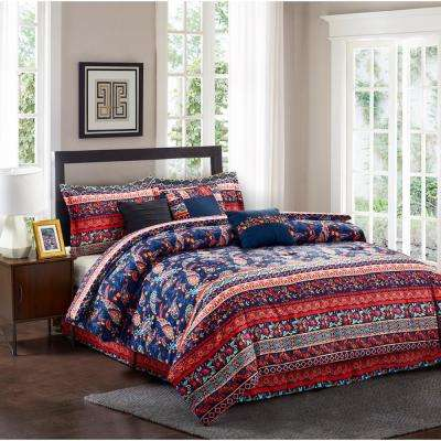 Hannah 7-Piece King Comforter Set