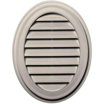 27 in. Oval Gable Vent in Almond