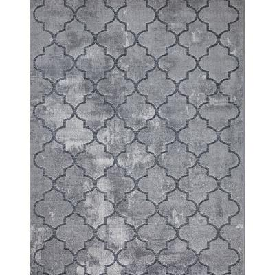 Samba Crossroads Gray 8 ft. x 10 ft. Indoor/Outdoor Area Rug